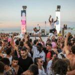 Ultimo di tre beach party per il compleanno Samsara Riccione