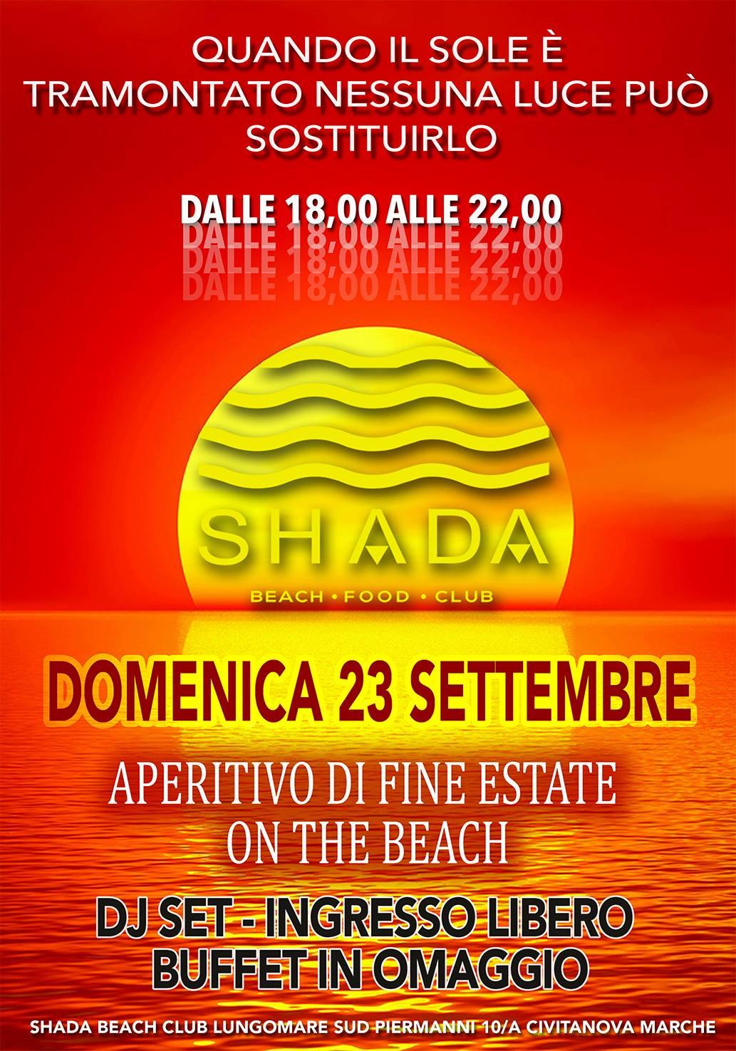 Aperitivo Di Fine Estate Shada Beach Club Civitanova Marche