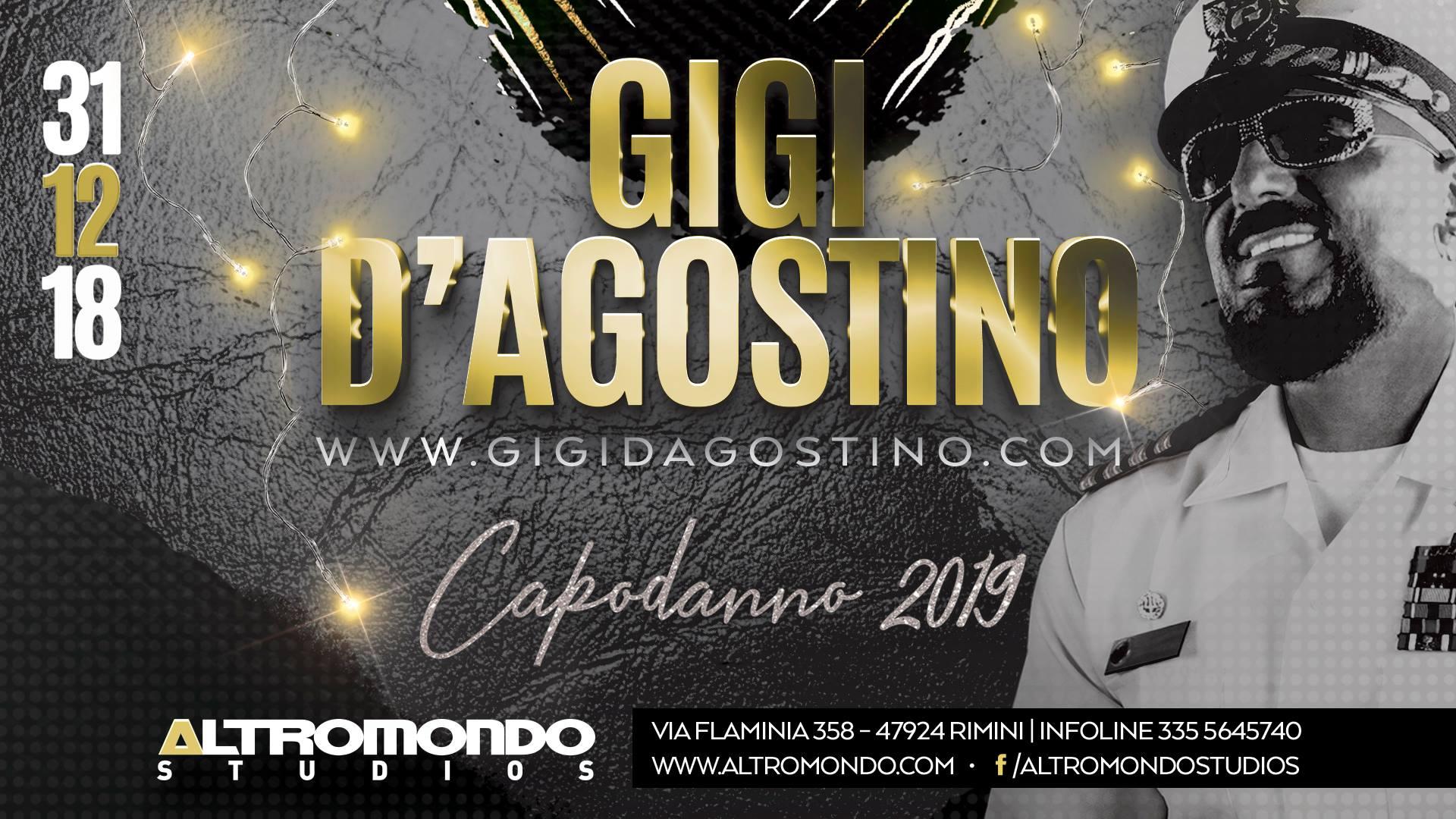 Capodanno con Gigi D Agostino Discoteca Altromondo Rimini
