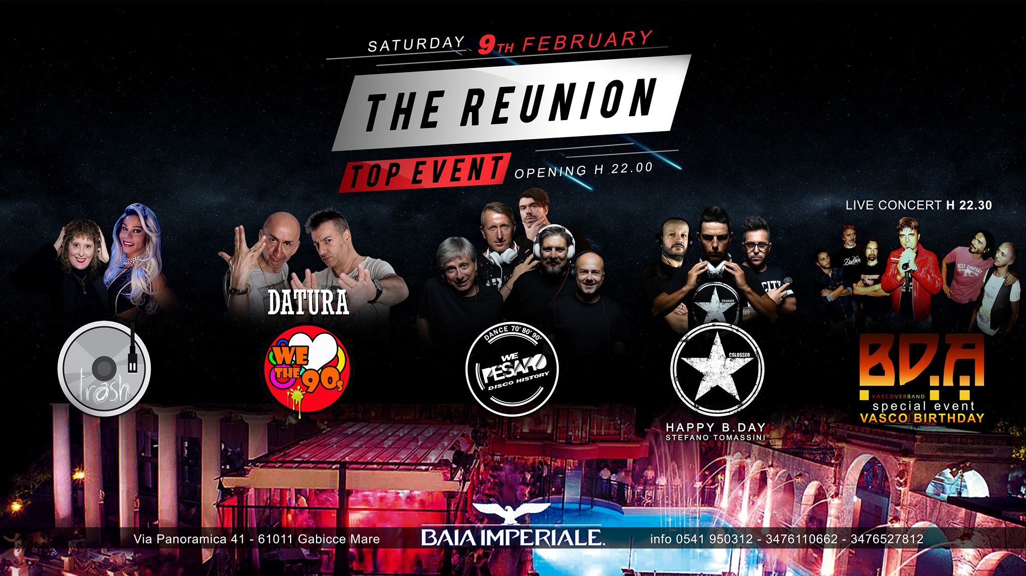The Reunion Discoteca Baia Imperiale Gabicce Mare