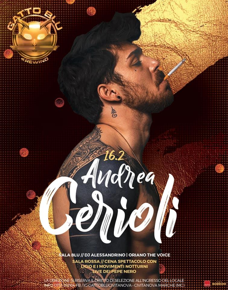 Andrea Cerioli alla Discoteca Gatto Blu di Civitanova Marche