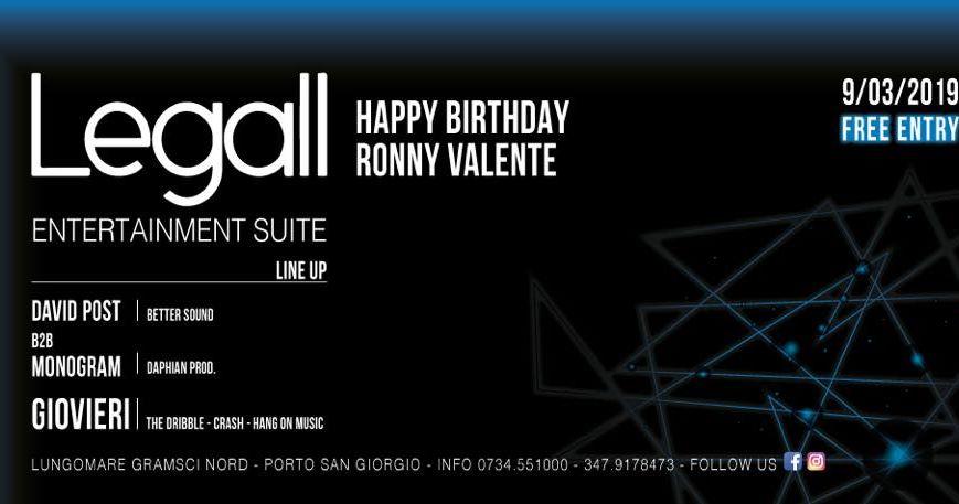 Happy Birthday Ronny Valente Le Gall Porto San Giorgio