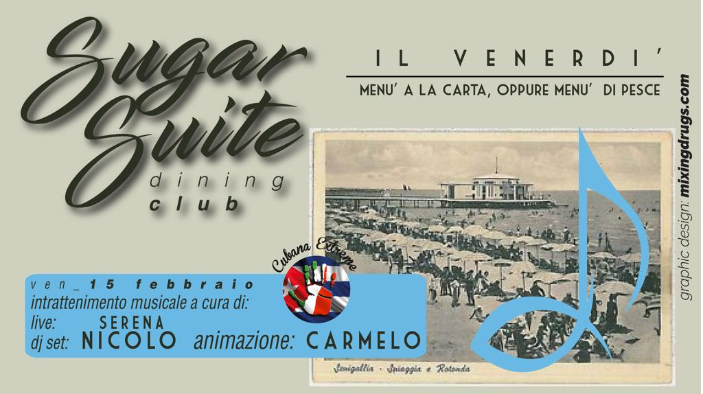 Dj Nicolo Ricci Performer Carmelo Garro Sugar Suite Senigallia