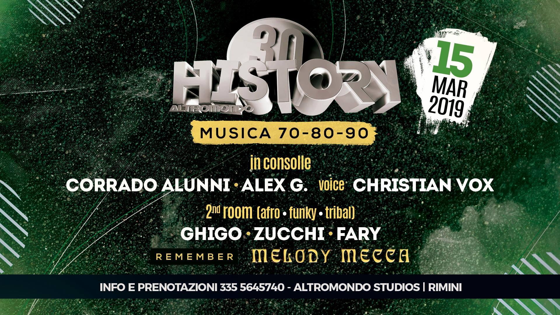 History 70 80 90 Discoteca Altromondo Rimini