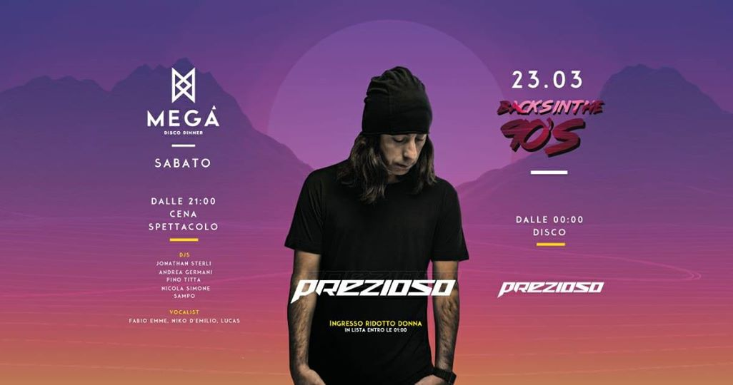 Prezioso guest dj Mega Disco Dinner Pescara