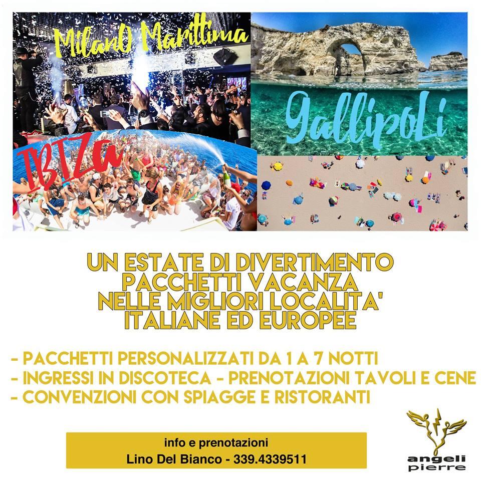 Pacchetti Weekend o Vacanza Ibiza Gallipoli Milano Marittima Ecc