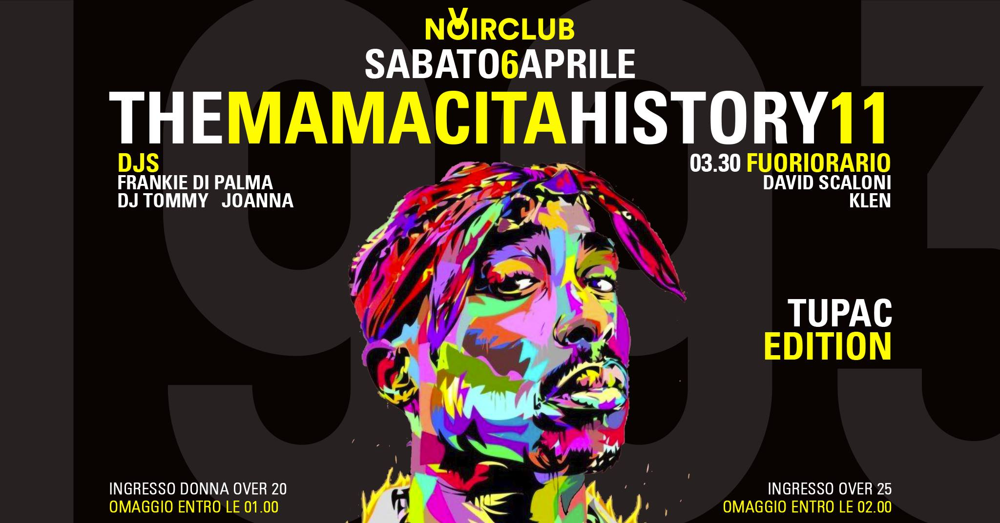 Tupac Edition Noir Club Jesi