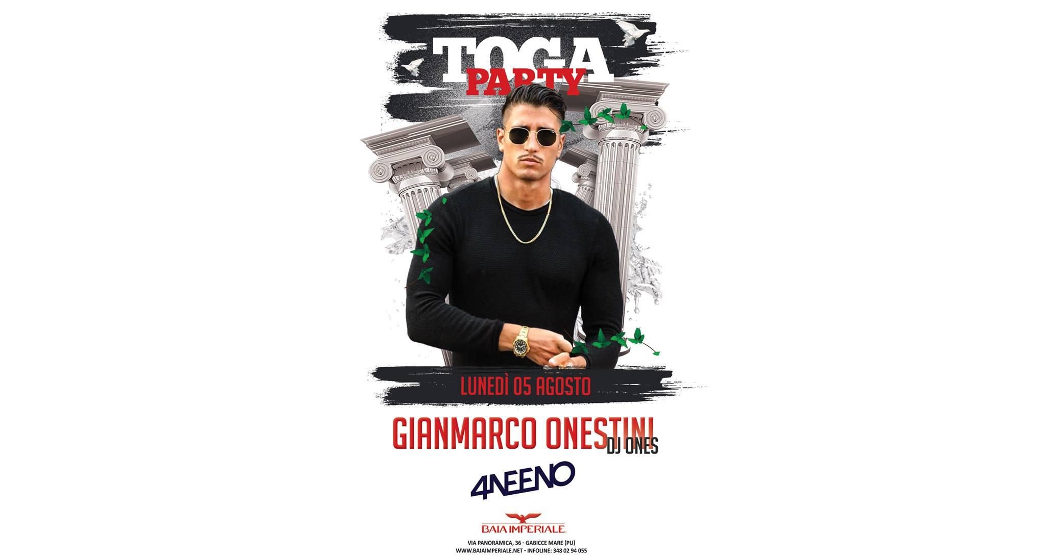 Discoteca Baia Imperiale Gabicce ospite Gianmarco Onestini
