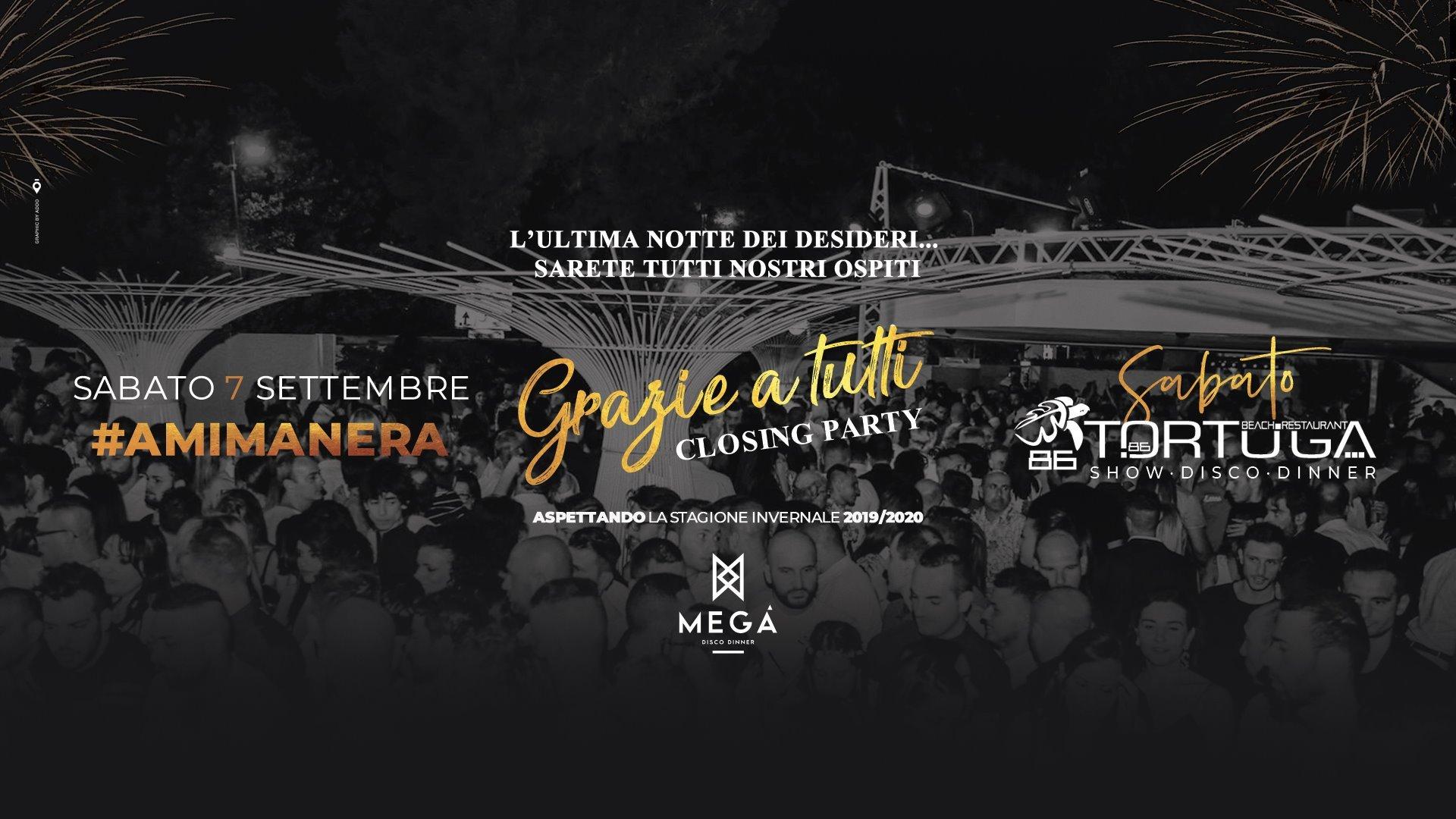 Closing Party Tortuga Club Montesilvano Pescara