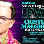 Cristiano Malgioglio al Rewind del Miami Club