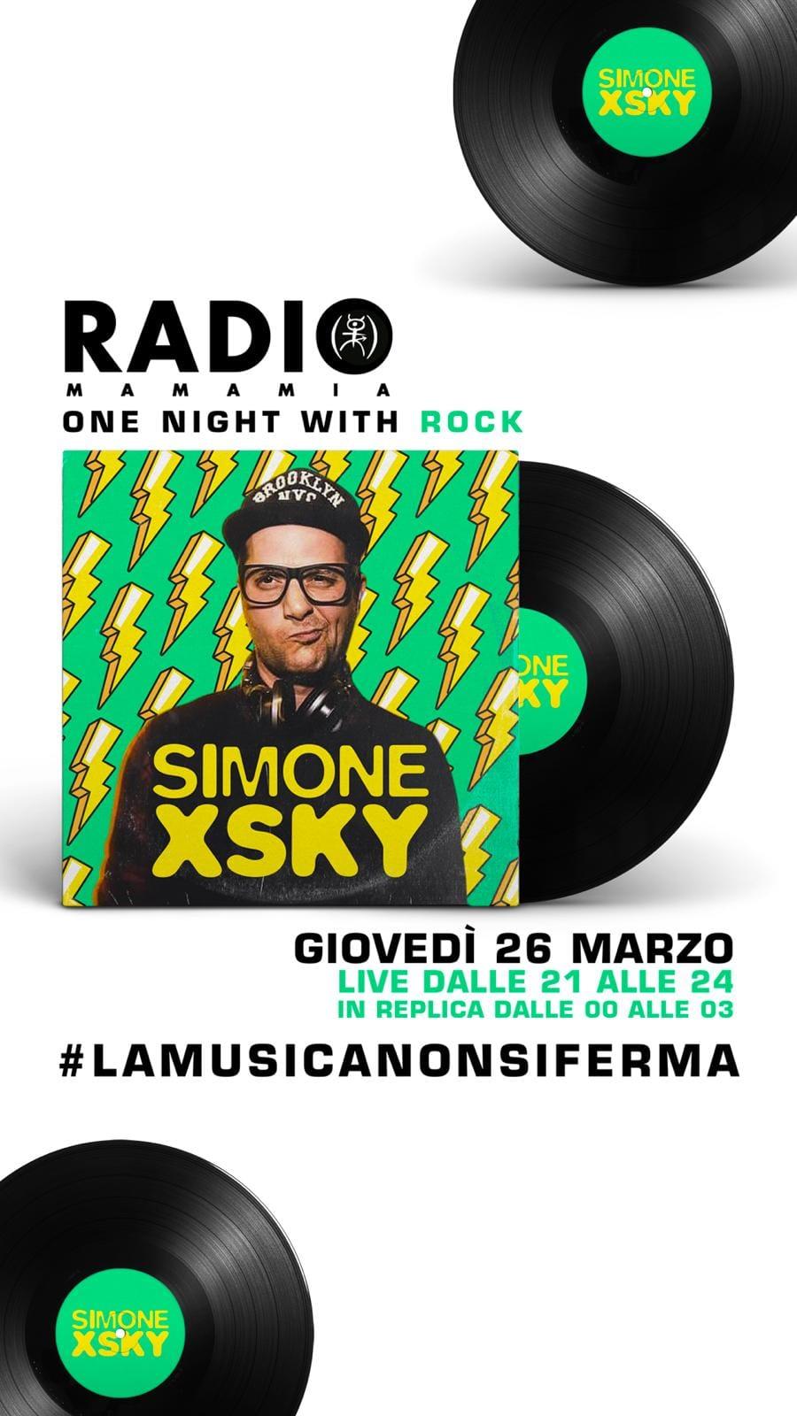 One night with rock Radio Mamamia