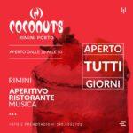 Discoteca Coconuts Rimini, cena e musica