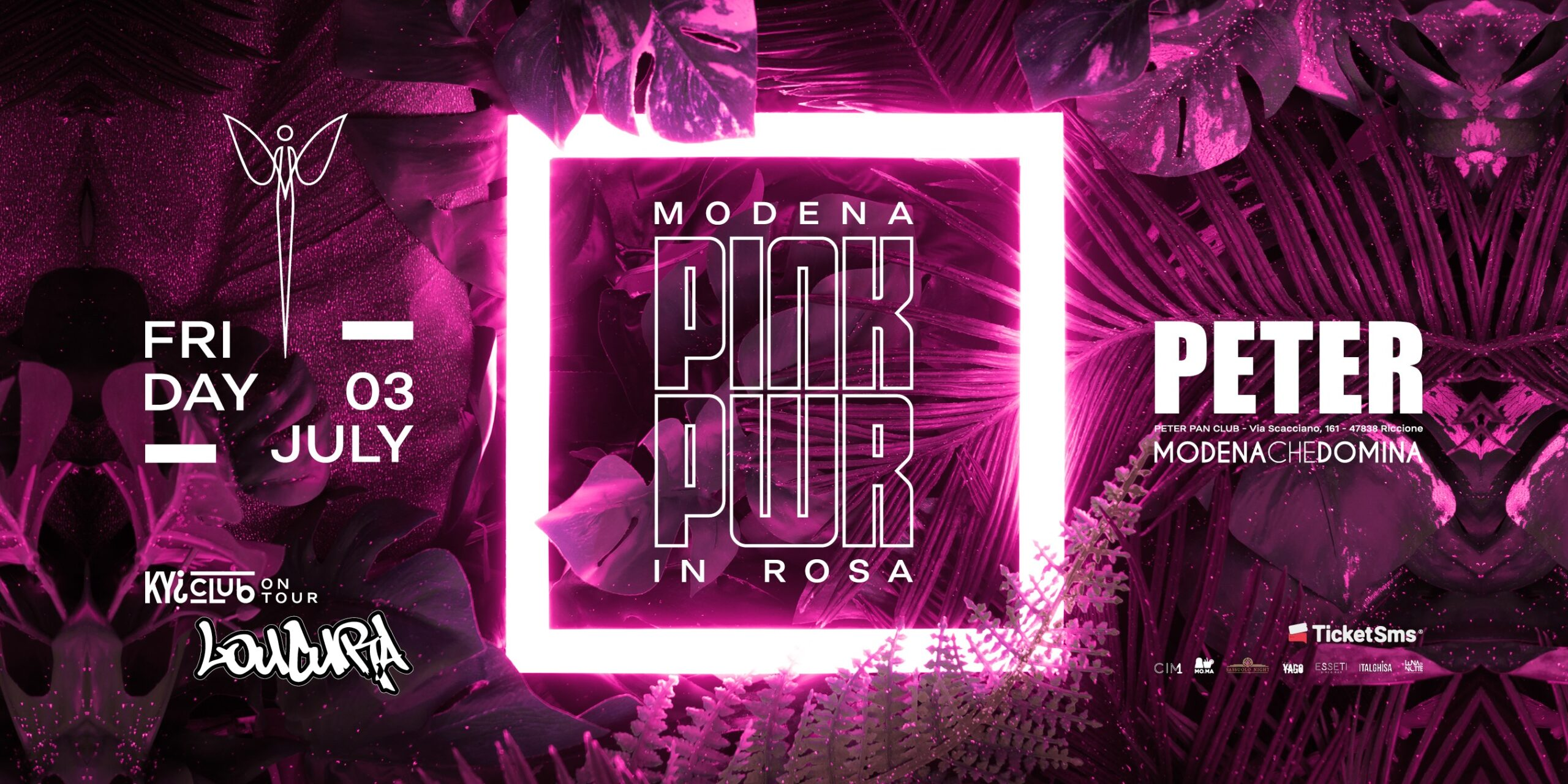 Pink Pwr Peter Pan Discoteca Riccione