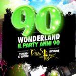 90 Wonderland alla Villa delle Rose