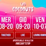 Djs Mauro Catalini, Romoletto, Rafael Nunez e Danilo Rossini alla Discoteca Coconuts