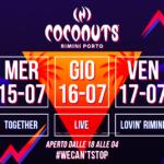 Djs Mauro Catalini, Rafael Nunez, Romoletto, e Danilo Rossini alla Discoteca Coconuts