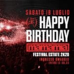 Happy Birthday Mamamia Senigallia, Ingresso omaggio entro le ore 00:30