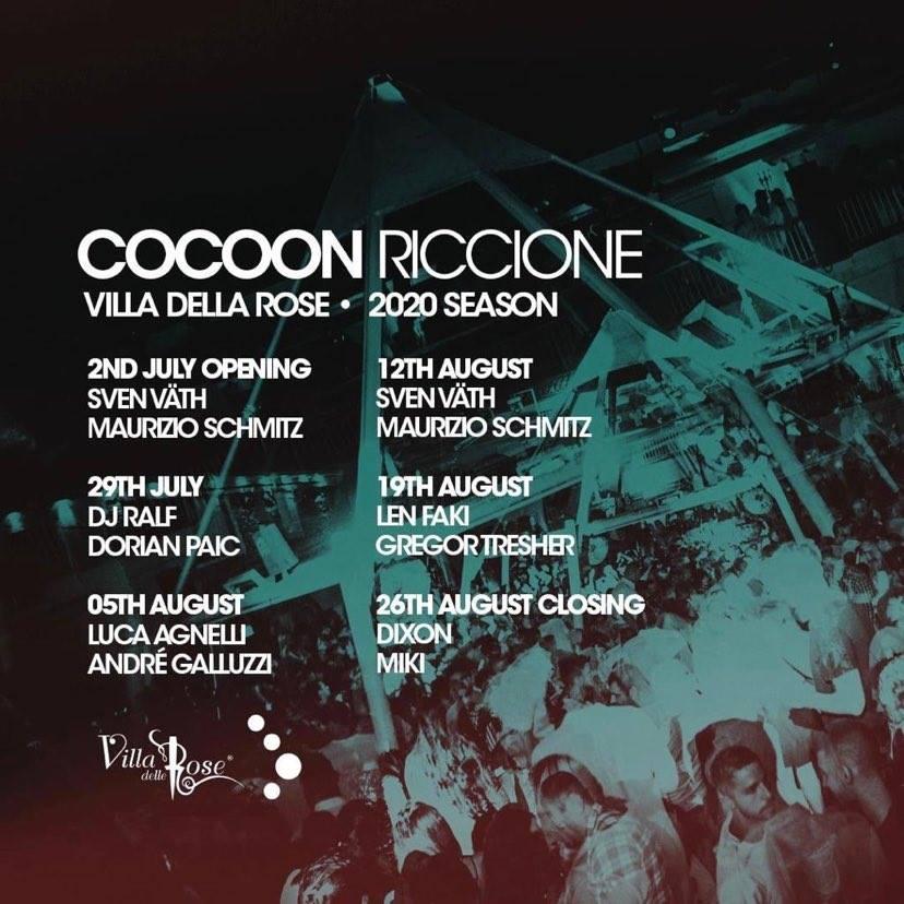 Discoteca Villa Delle Rose Riccione, guest dj Sven Vath