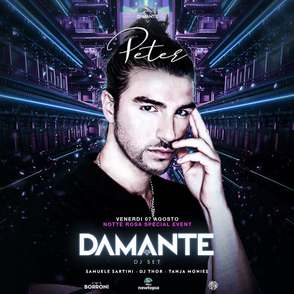 La Notte Rosa con Andrea Damante alla Discoteca Peter Pan di Riccione