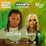 Ozuna e Karol G alla Rimini Beach Arena
