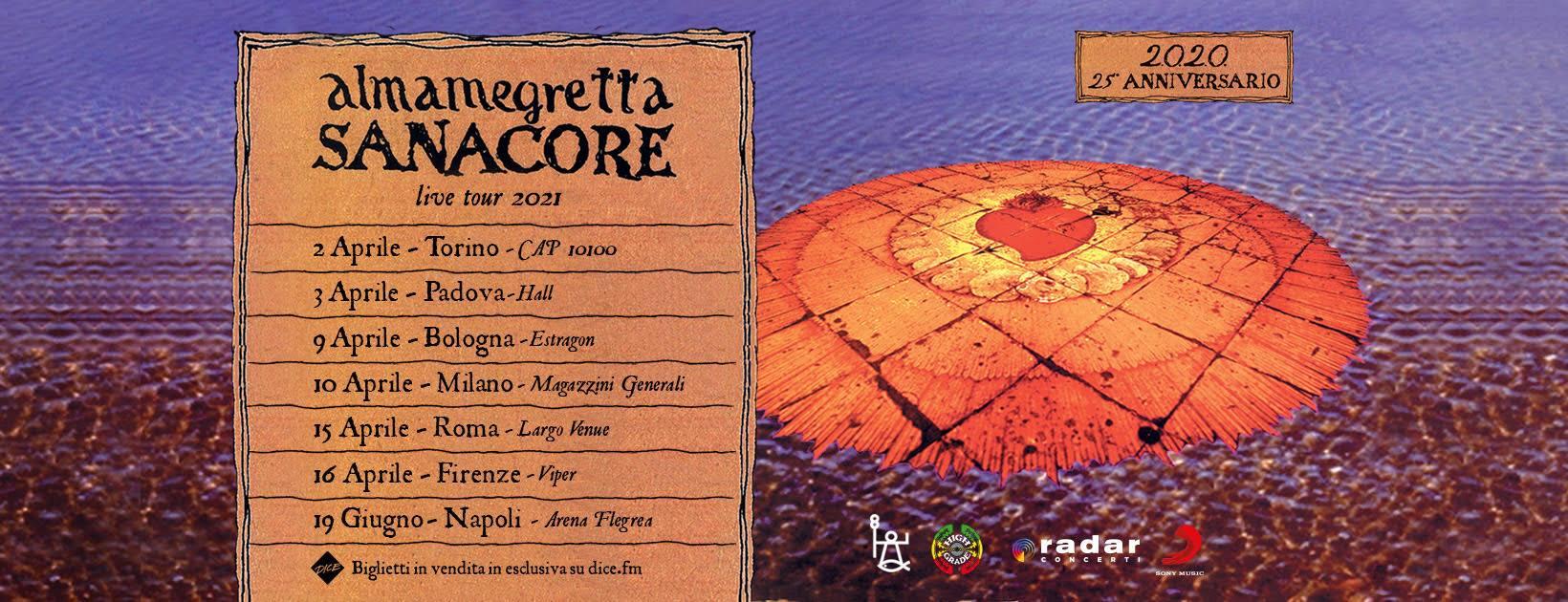Almamegretta, Sanacore live tour 2021, Estragon Club Bologna