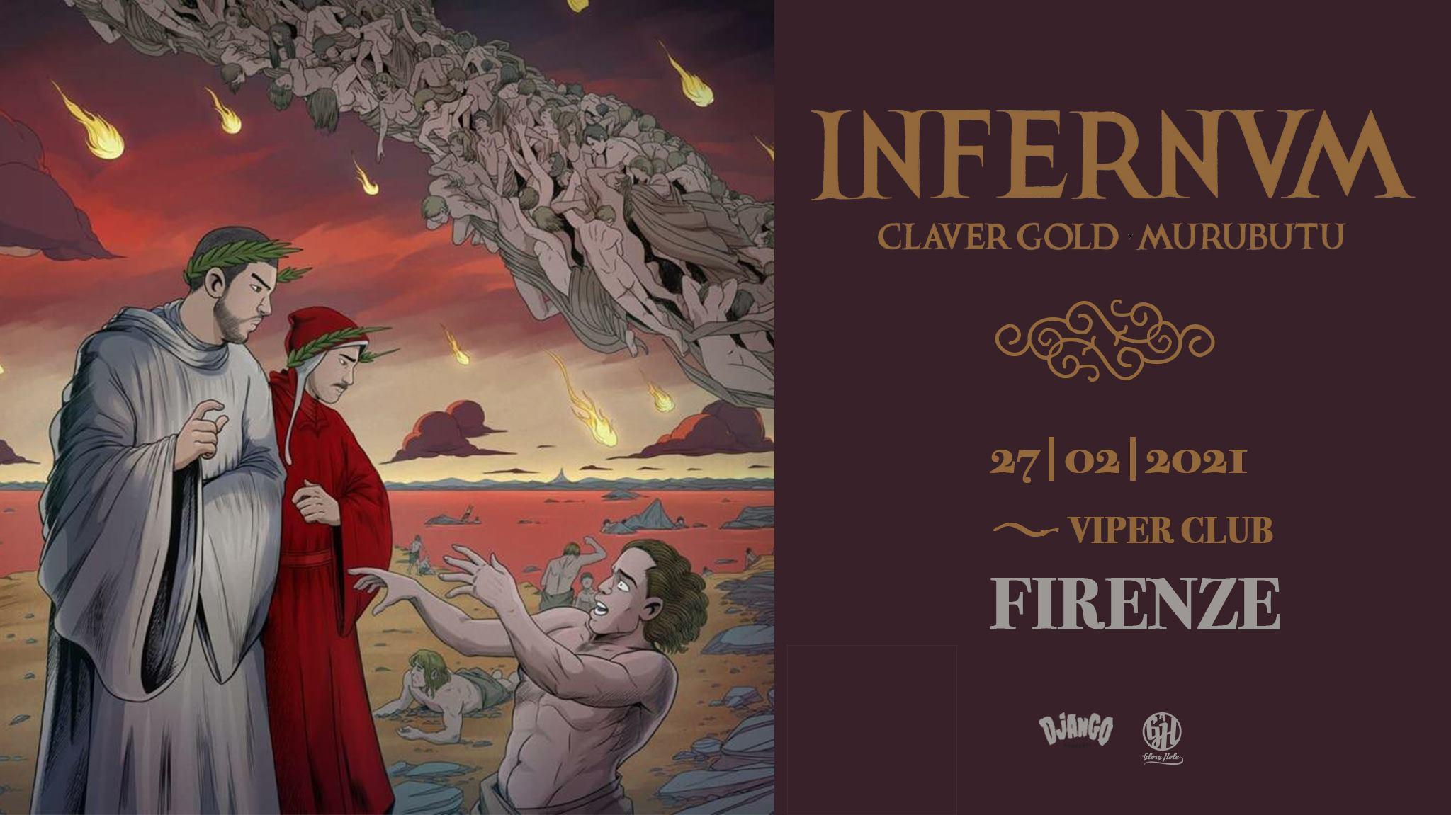 """Claver Gold & Murubutu """"Infernvm tour"""", Viper Club Firenze"""