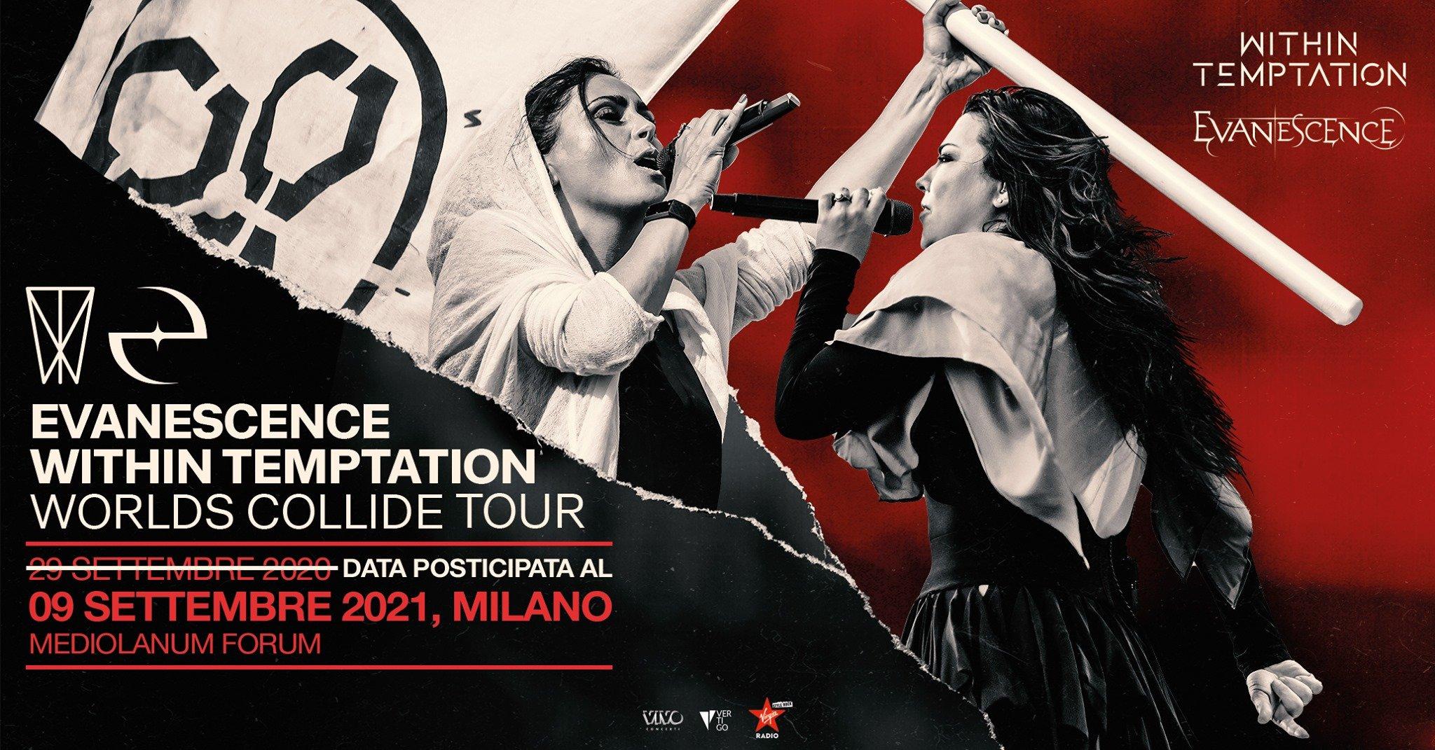 Evanescence + Within Temptation al Mediolanum Forum di Milano