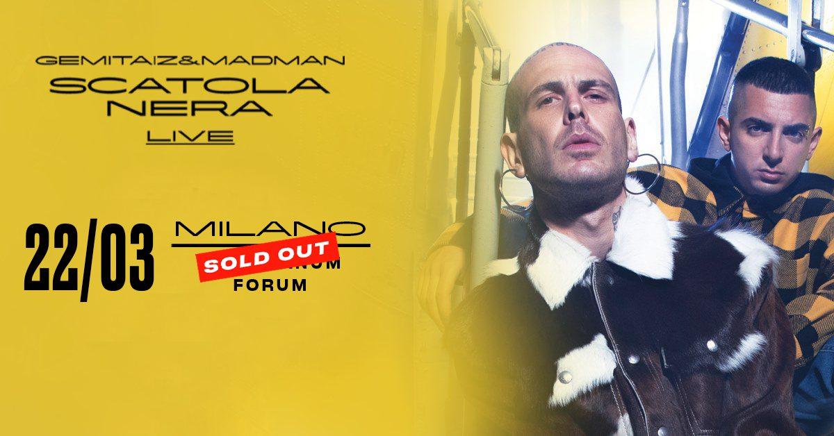 Gemitaiz & MadMan live Milano Mediolanum Forum