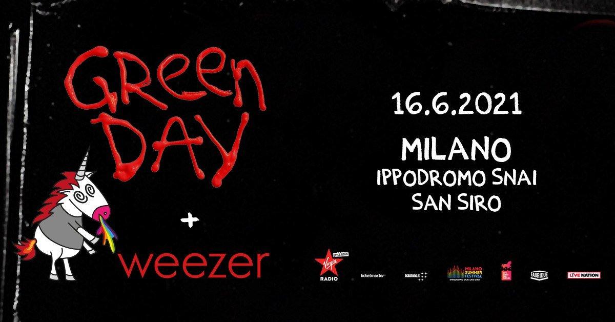 Green Day + Weezer Live, Ippodromo Snai San Siro Milano