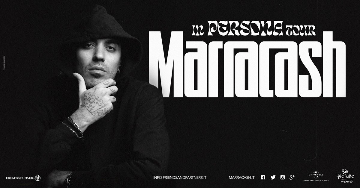 Marracash in concerto al Mediolanum Forum di Milano, terza data
