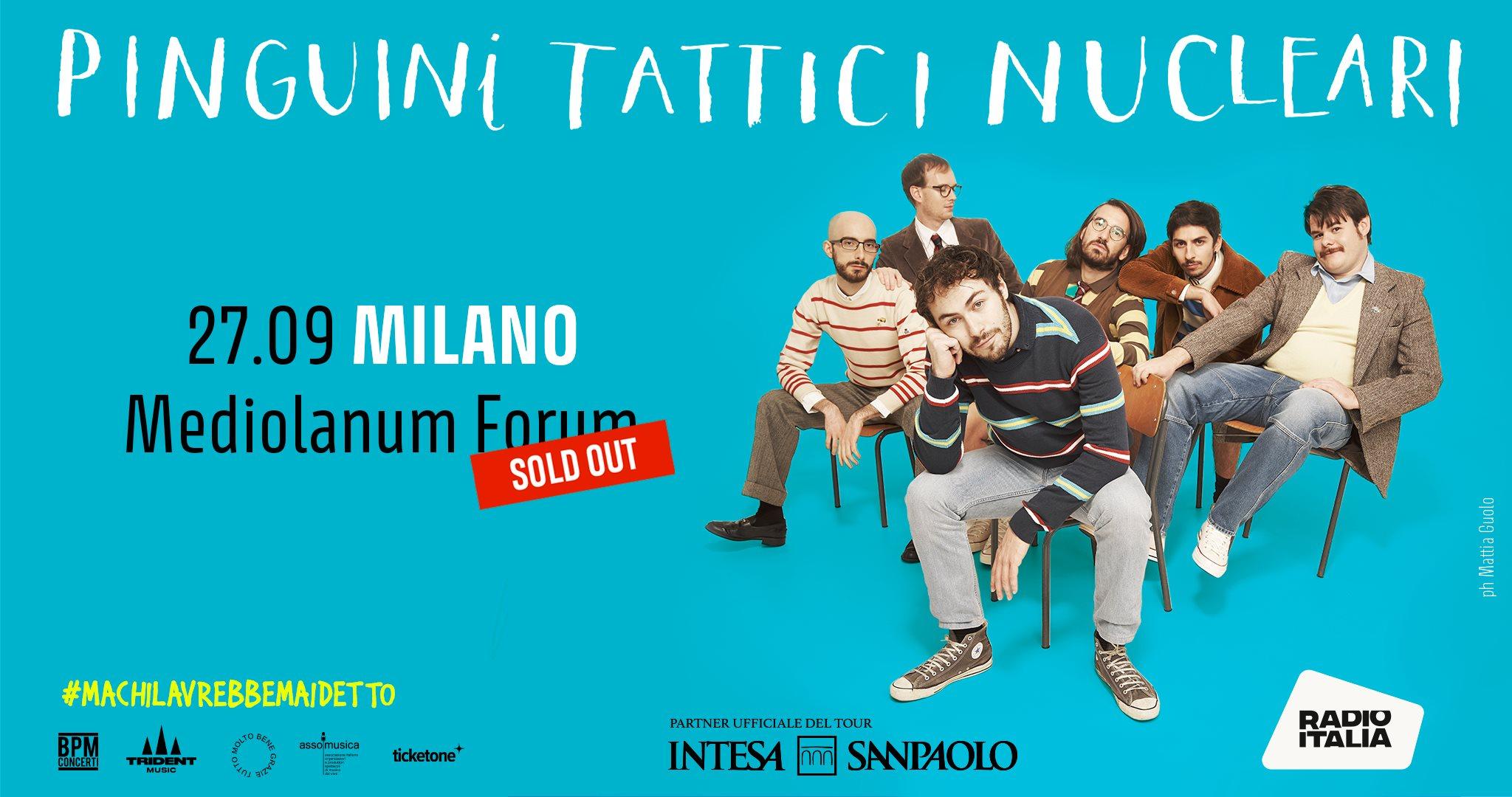 Pinguini Tattici Nucleari al Mediolanum Forum di Milano