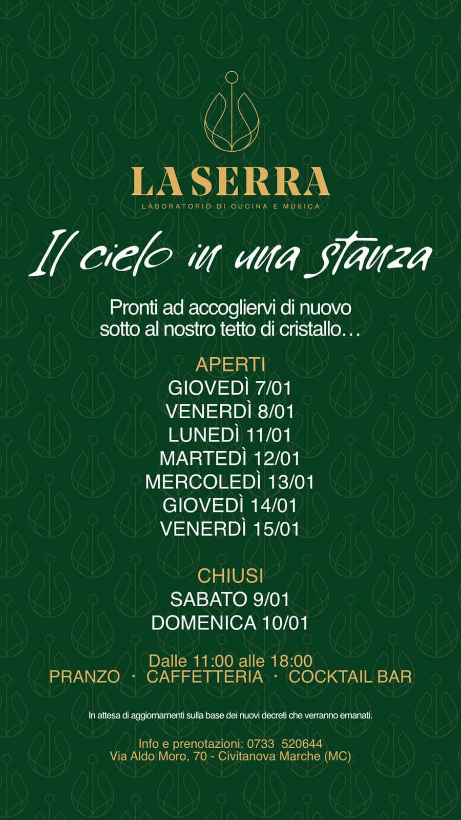 Ristorante La Serra Civitanova Marche, il terzo pranzo del 2021