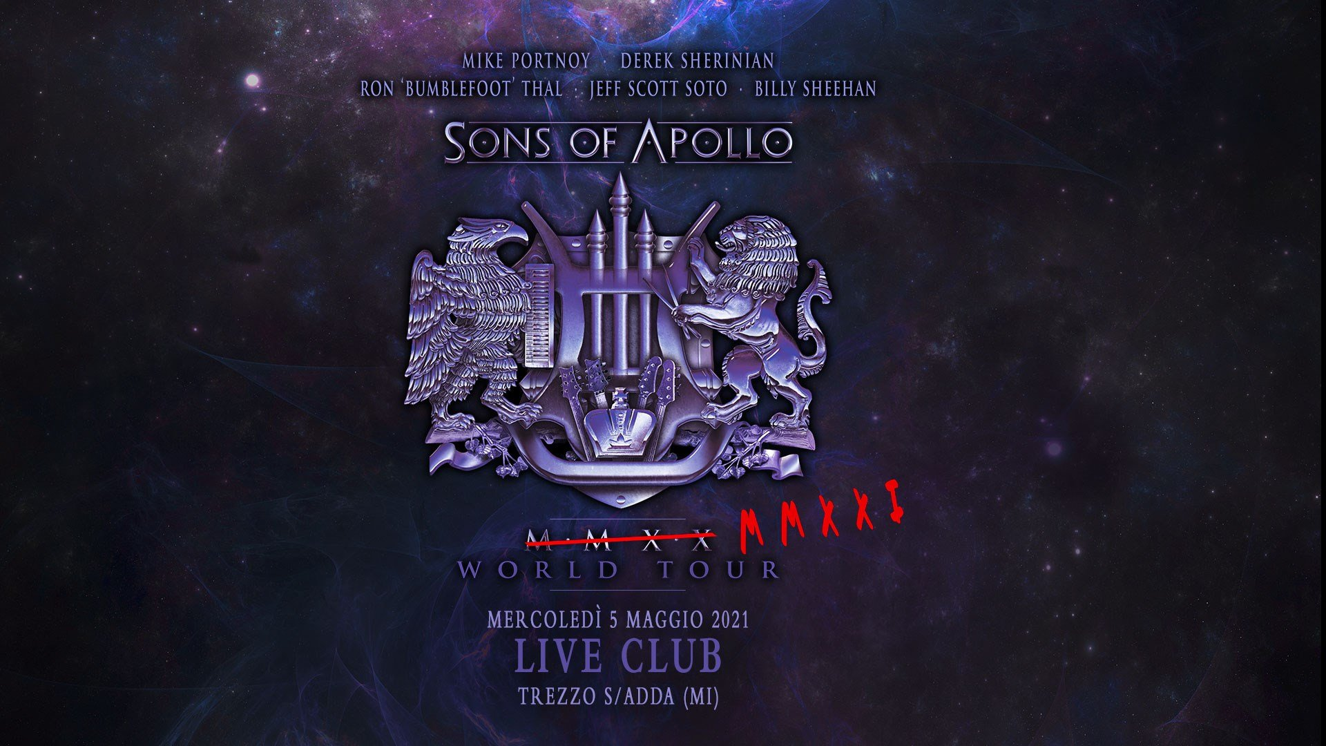 Sons Of Apollo, Live Music Club Trezzo sull'Adda