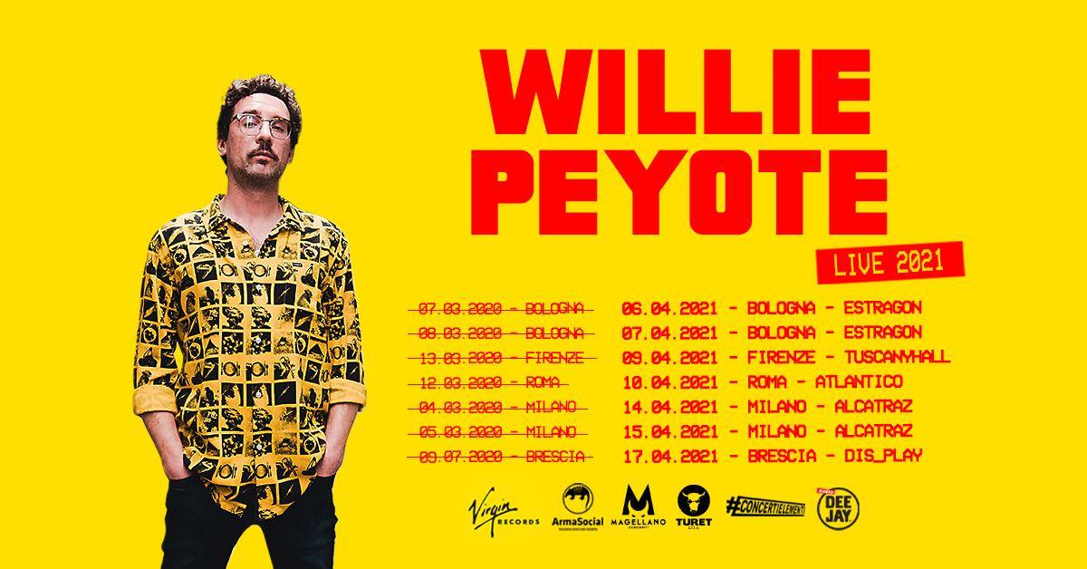 Estragon Club Bologna, Willie Peyote Live 2021