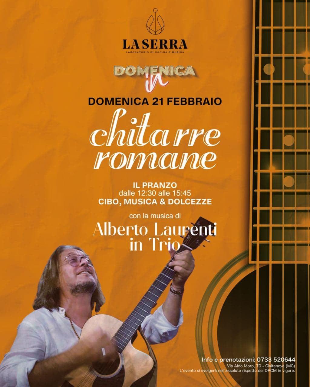 Alberto Laurenti al ristorante La Serra di Civitanova Marche