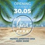 Operà Beach Club Riccione, pranzo, aperitivo, cena e music show