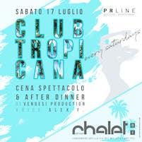 Club Tropicana con Alex F voice allo Chalet Del Mar di Fano