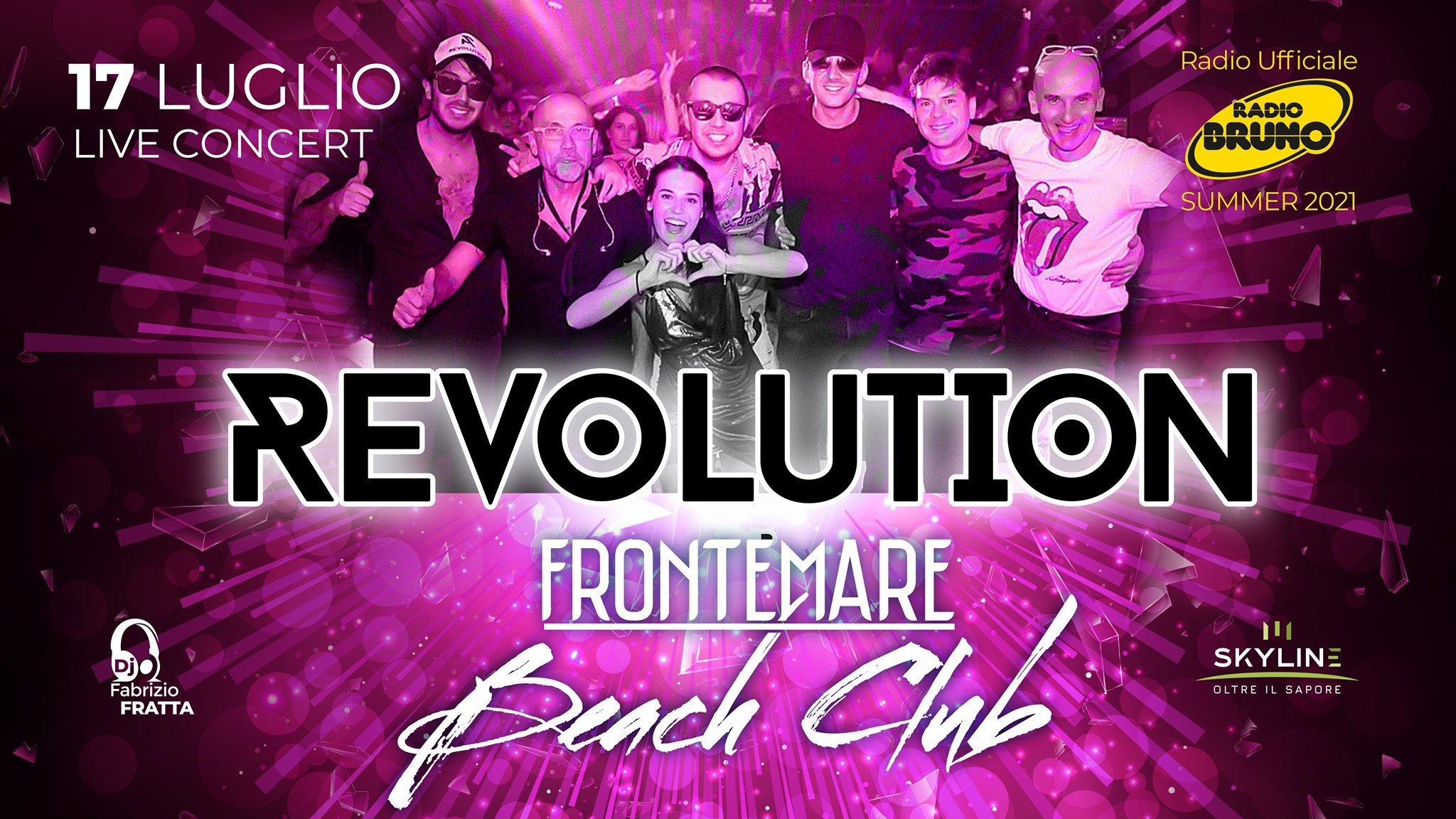 Frontemare Rimini, i Revolution live