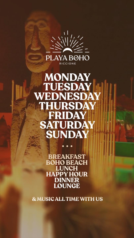 Weekend pre Notte Rosa al Playa Boho di Riccione
