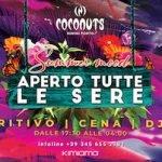 Aperitivo, cena e dj set alla discoteca Coconuts di Rimini